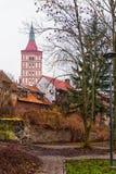 Olsztyn, Πολωνία 2017 11 30 Γοτθικό κάστρο της πρίγκηπας-επισκοπής Warmia, κάστρο Ordensburg Στοκ Εικόνες