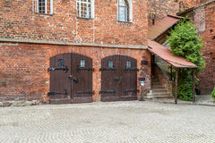 Olsztyn Castle, double doors Royalty Free Stock Photos