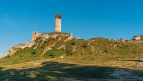 Olsztyn Castle Medieval fortress in Jura region. OLSZTYN, POLAND - SEP 03, 2016: The ruins of the castle in Olsztyn near Cz stochowa are among the best-known stock image