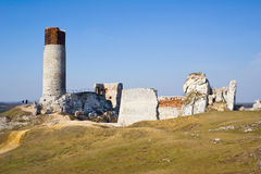Olsztyn Castle - Poland. Medieval fortress in the Jura Royalty Free Stock Image