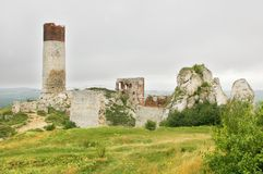 Olsztyn castle ruins Stock Image