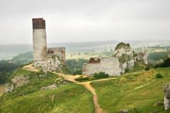 Olsztyn castle ruins Stock Images
