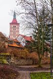 Olsztyn, Poland 2017. 11. 30. Gothic castle of the Prince-Bishopric of Warmia, Ordensburg castle. Olsztyn, Poland 2017. 11. 30. Gothic castle of the Prince Stock Images