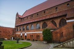 Olsztyn, Polen 2017 11 30 Gotisch kasteel van het prins-Bisdom van Warmia, Ordensburg-kasteel stock afbeeldingen