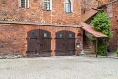 Olsztyn slott, dubbla dörrar Royaltyfria Foton