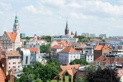 Olsztyn - stadspanorama Royaltyfri Fotografi