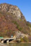 Κοιλάδα Olt σε Cozia, Valcea, Ρουμανία Στοκ Φωτογραφία