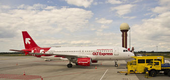 OLT Express , Airbus 320 Royalty Free Stock Photos