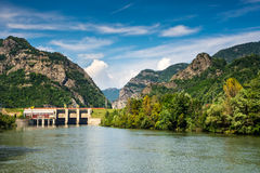 Olt River in Carpathian Mountains, Romania Royalty Free Stock Photos