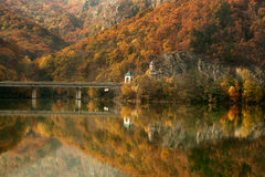 Olt Valley on autumn, Romania Stock Image