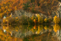 Olt Valley on autumn, Romania Stock Photography