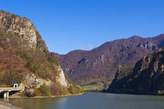 Olt Valley at Cozia, Valcea, Romania stock image