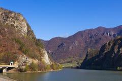 Olt Valley at Cozia, Valcea, Romania Stock Image