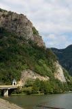 Olt valley at Cozia, Valcea, Romania Royalty Free Stock Photos