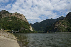 Olt valley at Cozia, Valcea, Romania Royalty Free Stock Photo