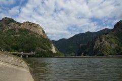 Olt valley at Cozia, Valcea, Romania Royalty Free Stock Photo