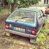 #oltena #oltcit Roemeense die auto in comunist van Roemenië wordt gemaakt Stock Foto