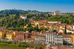 Oltrarno e belvedere forte a Firenze, Italia Fotografia Stock Libera da Diritti