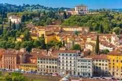 Oltrarno e belvedere forte a Firenze, Italia Fotografia Stock