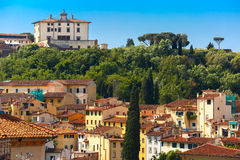 Oltrarno e belvedere forte a Firenze, Italia Fotografie Stock