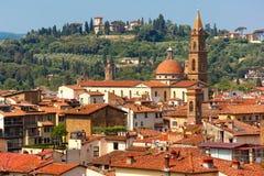 Oltrarno en Santo Spirito in Florence, Italië royalty-vrije stock afbeeldingen
