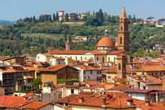 Oltrarno and Santo Spirito in Florence, Italy Royalty Free Stock Images