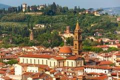 Oltrarno Spirito w Florencja i Santo, Włochy Fotografia Royalty Free