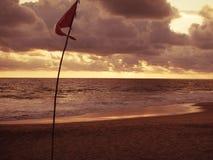 Oltre il mare è la luce reale Fotografia Stock Libera da Diritti