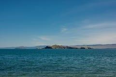 Oltrek wyspa Maloe Więcej cieśnina, jeziorny Baikal Obraz Royalty Free