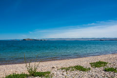 Oltrek wyspa Maloe Więcej cieśnina, jeziorny Baikal Obrazy Stock