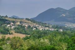 Oltrepo Pavese Италия, ландшафт в долине Tidone стоковое фото rf