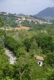 Oltrepo Pavese Италия, ландшафт в долине Tidone стоковое фото