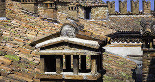 Oltrepo Pavese castle roof. Color image Royalty Free Stock Images