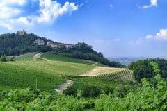 Oltrepo Pavese Italia, paesaggio rurale ad estate fotografie stock