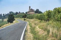 Oltrepo Piacentino意大利,农村风景在夏天 免版税图库摄影
