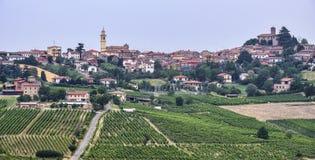 Oltrepo Piacentino Itália, paisagem rural no verão fotografia de stock royalty free