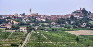 Oltrepo Piacentino Italia, paesaggio rurale ad estate fotografia stock libera da diritti