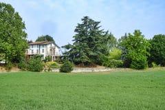 Oltrepo Piacentino Włochy, wiejski krajobraz przy latem Fotografia Royalty Free