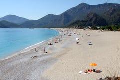 Oludeniz海滩,费特希耶(土耳其) 库存照片