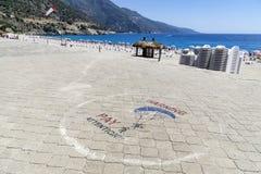 OLUDENIZ,土耳其- 6月04 免版税库存图片