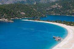 Oludeniz海滩,费特希耶(土耳其) 免版税库存图片