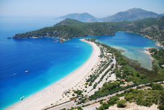Oludeniz from the air Royalty Free Stock Images
