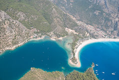 Oludeniz from the air, Fethiye, Turkey Royalty Free Stock Photography