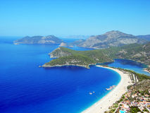 Oludeniz beach. Litle city Oludeniz. Turkey. Blue bay Stock Photo