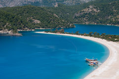 Oludeniz beach, Fethiye (Turkey) Royalty Free Stock Images