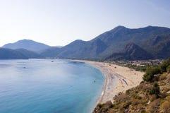 Oludeniz beach Turkey. Scenic view of Oludeniz beach, Mugla province, Turkey Stock Photos