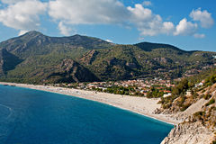 Oludeniz beach in Turkey on a summers day Stock Photography