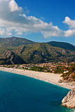 Oludeniz beach in Turkey on a summers day Royalty Free Stock Images