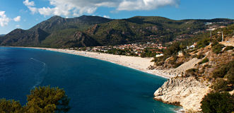 Oludeniz beach in Turkey on a summers day Royalty Free Stock Photography