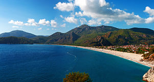 Oludeniz beach in Turkey on a summers day Royalty Free Stock Photo